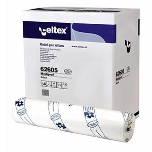Celtex dwuwarstwowy podkład medyczny w roli biały 50cm x 80m
